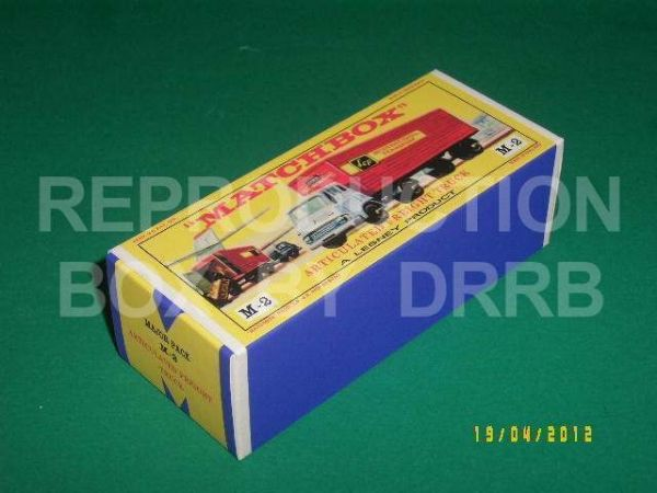 Matchbox 1-75 Major Pack # 2 Bedford Tractor & York Trailer - Reproduction. Box